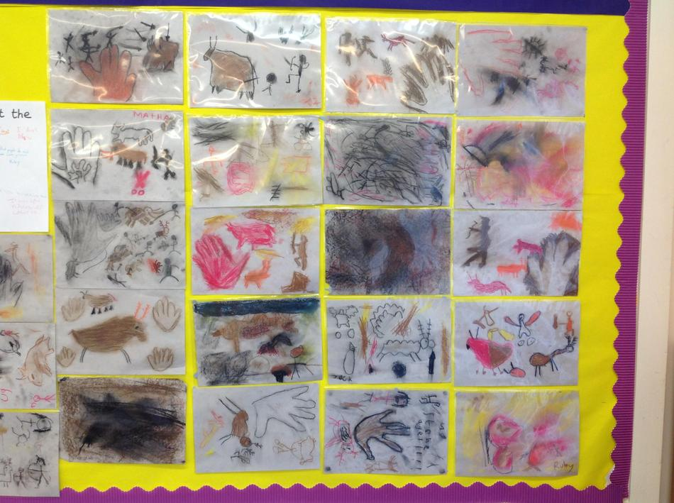 Our completed cave art