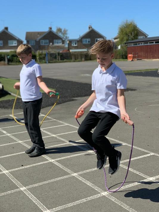 Challenging ourselves with high jumps, quick jumps, double jumps, hopping,