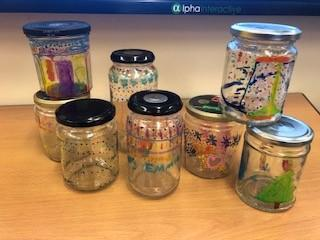 Glass jar decoration