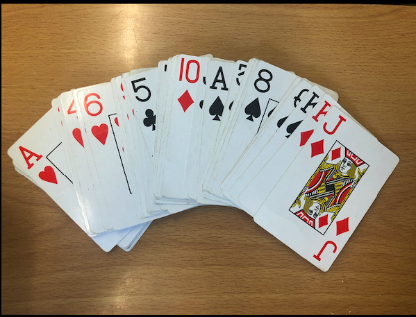 As you turn over a card, multiply it by your times table