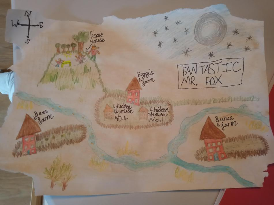 Tayla's 2D map shows clearly how the farms are situated down in the valley
