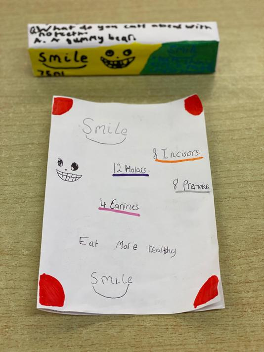 Ava designed a toothpaste to help look after teeth