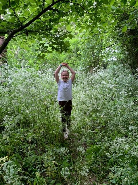Plenty of stinging nettles to avoid plus plenty of awe at how much everything had grown!