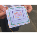 Practising a variety of stitches -