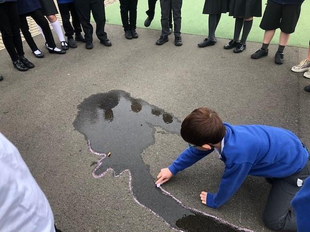 Creating puddles in good locations and predicting what will happen and why.
