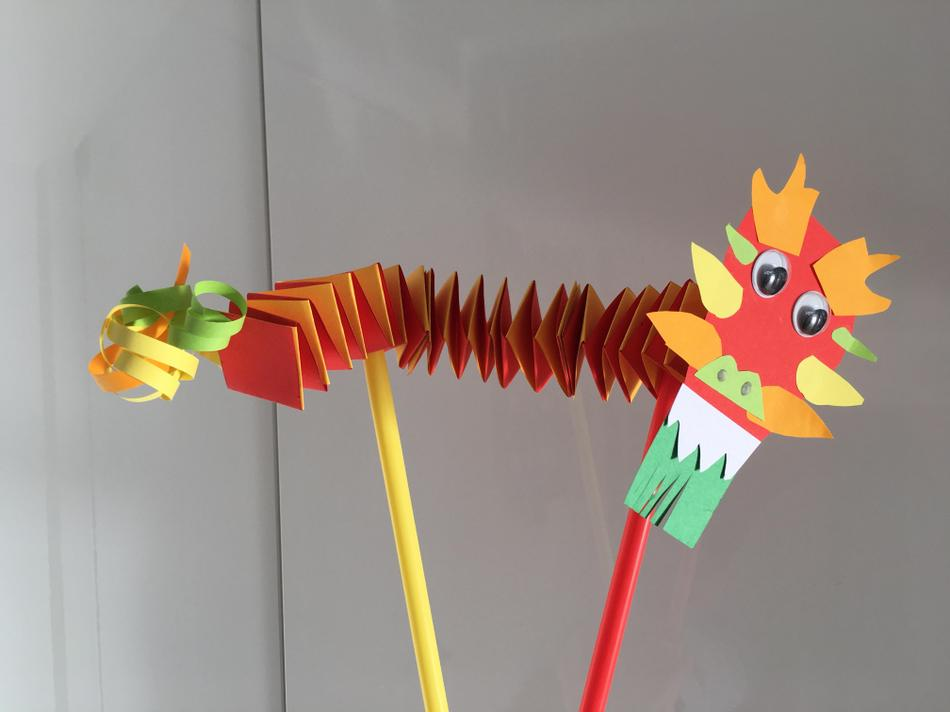 Papercraft Chinese Dragon from Finn - expert folding  a necessity here!