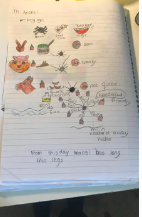 Evie learned how to use the story map to add detail