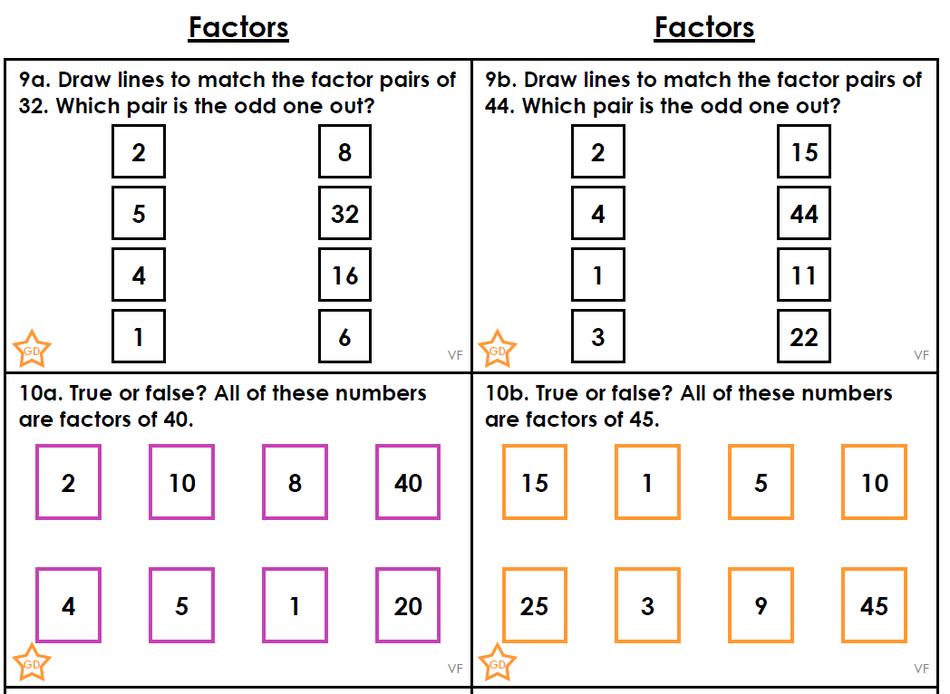 Factors - Proficient Challenge