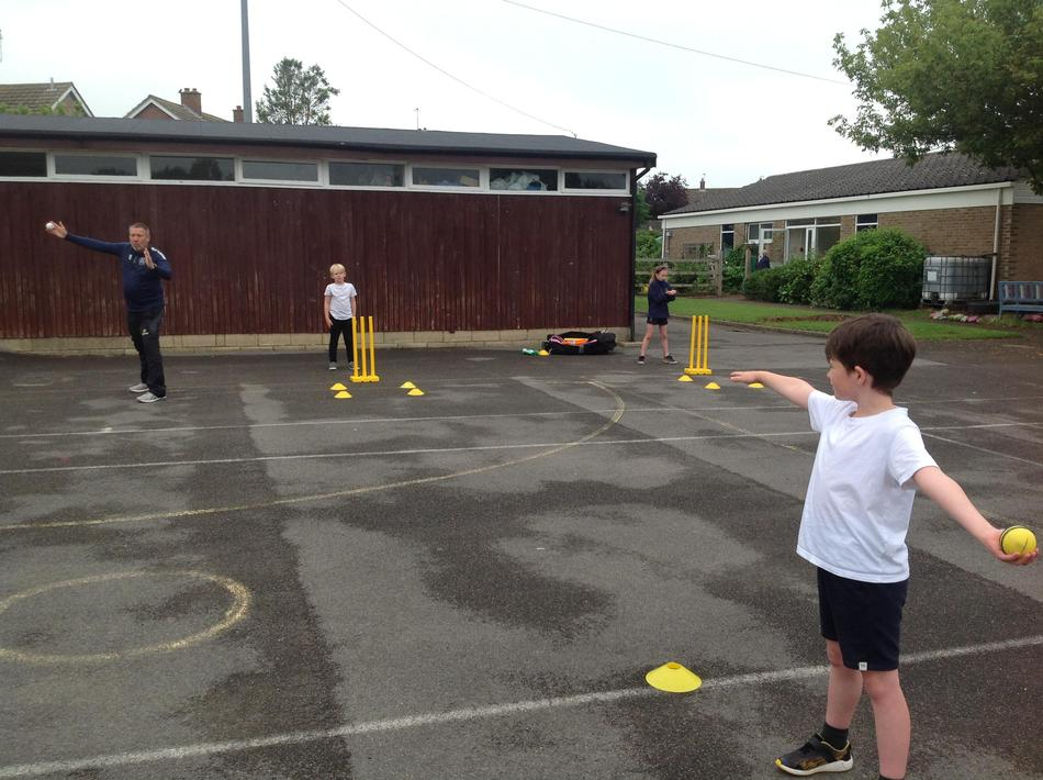 Developing our standing positions and bowling technique