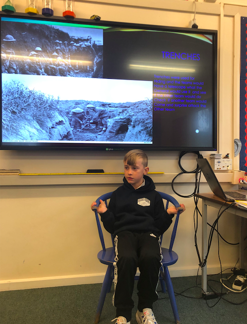 Stan did further research into the war after our guided reading sessions