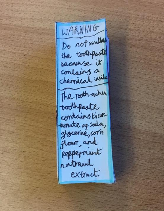 Explanations and warnings on the packaging