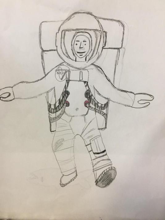 Josie's Picture Smart Astronaut sketch
