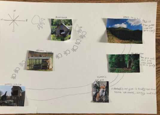 Freya used images and drawing to construct her map