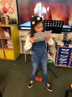 Phoebe shared her letter from Santa