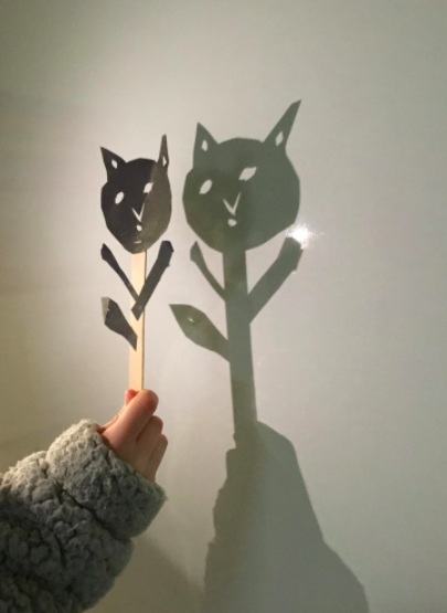 Leila's shadow puppet
