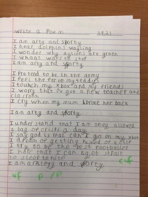 Final poems were written up in neatest handwriting into books.