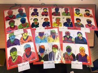 Andy Warhol art study in Year 4