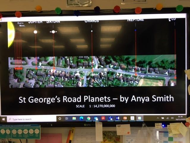 Anya's Number and Technology Smart video scaling the planets to her road