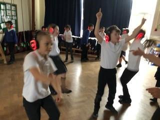 Thanks to Mrs Bones for our super silent disco.