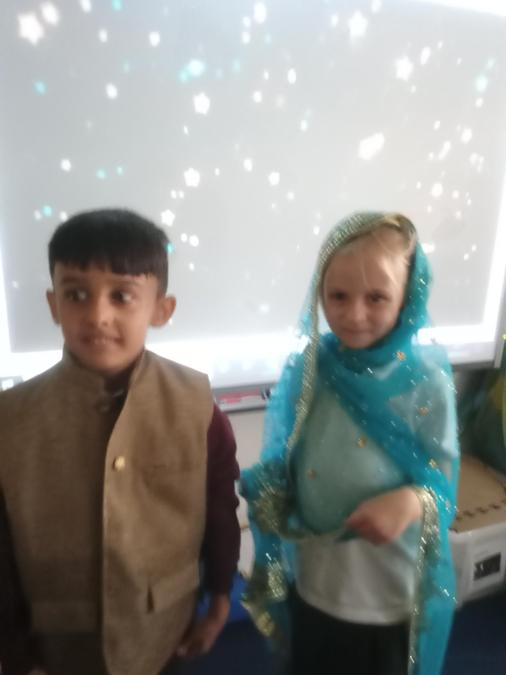 Trying on lovely Diwali clothes