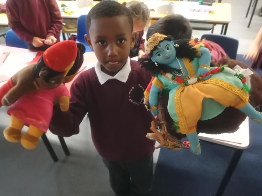 We retold the Diwali story using puppets