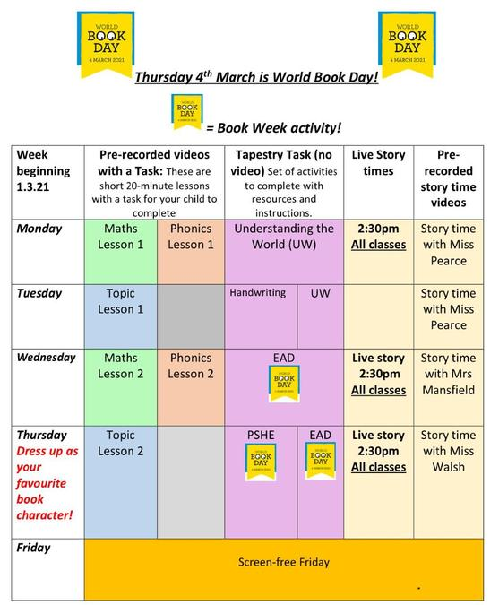 Thursday 4th March is World Book Day!