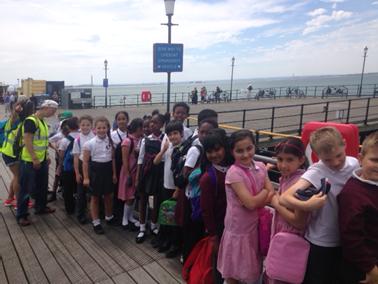 Year 4 children visiting Southend Pier