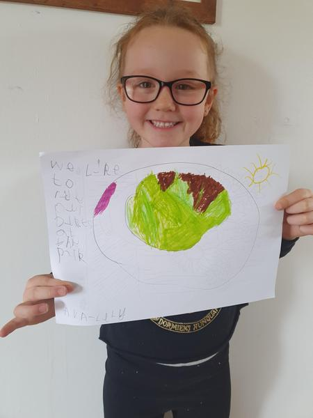 Ava's map of her park walks. So proud!