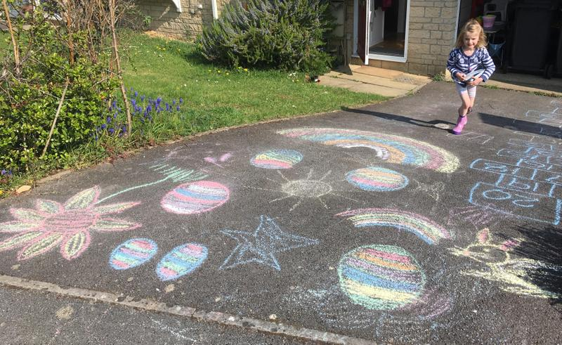 Poppy decorated her drive too.