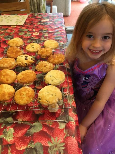 Jessica bakes a selection of scones.