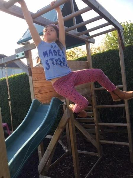 Rosie can do the monkey bars - Well done!