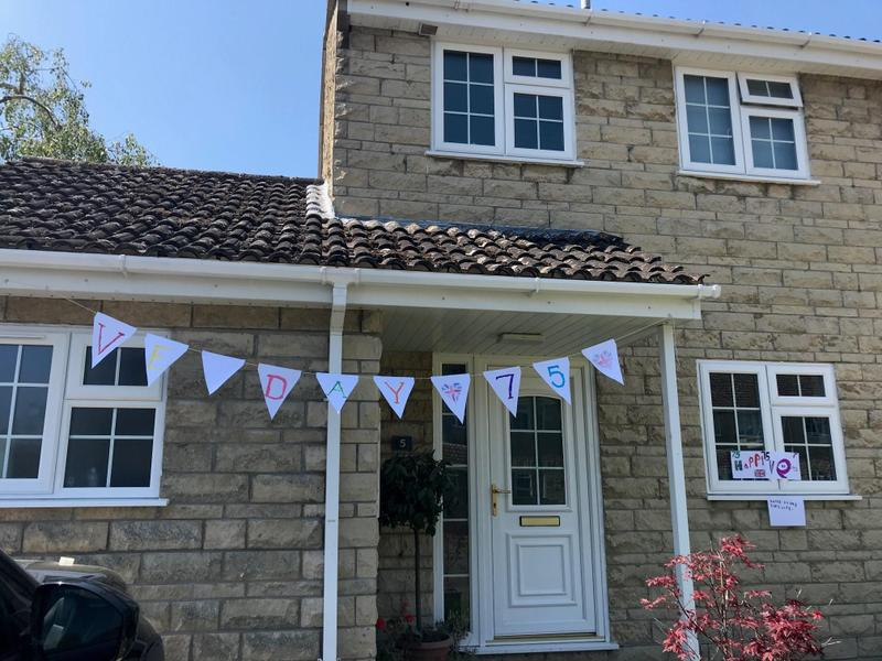 Henry's VE day bunting