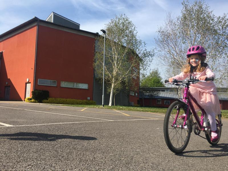 Amazing bike riding Anna!