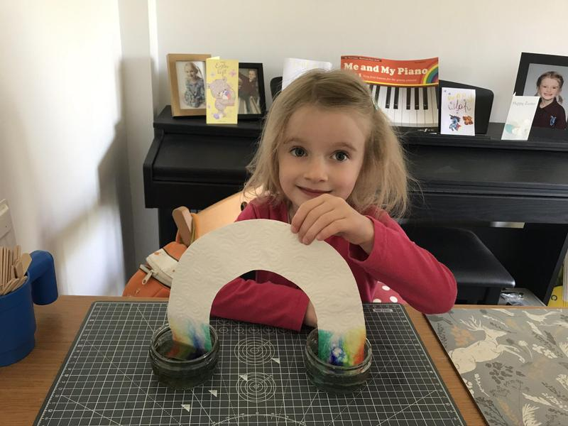 She made rainbows using science!