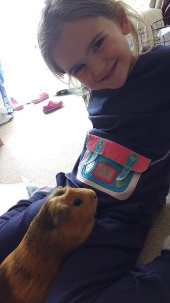 Erika enjoys looking after Buffy, her guinea pig.