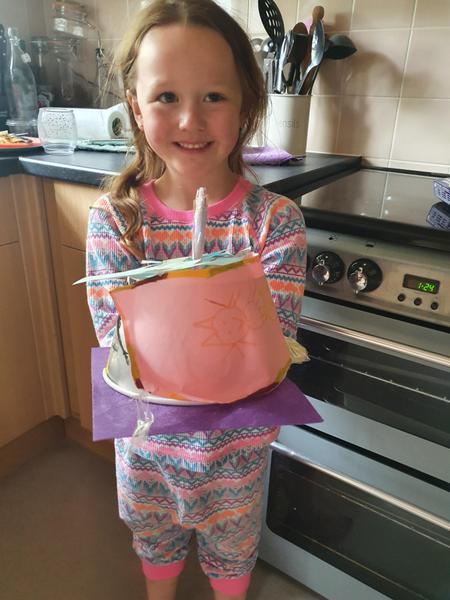 Ava's amazing paper craft cake!
