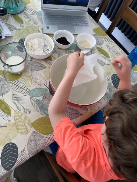 Henry is making scones