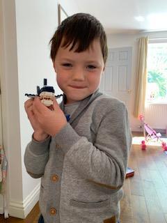 Sonny makes an amazing Lego model.