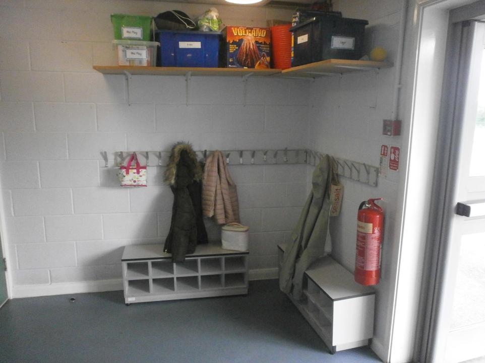 Pine Class cloakroom