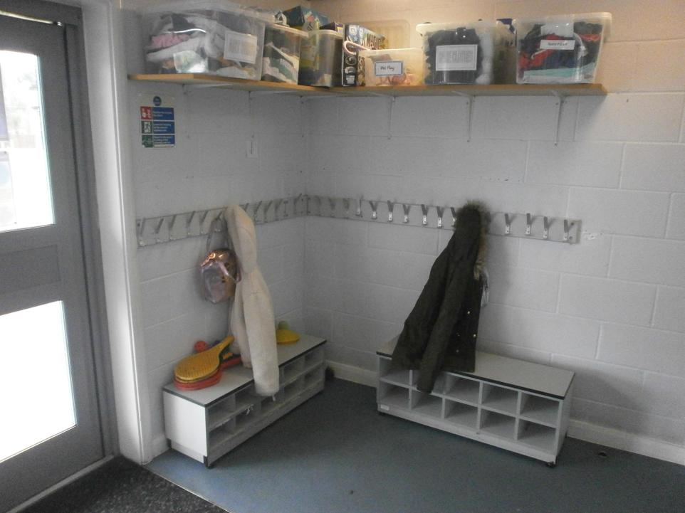 Inside Silver Birch cloakroom