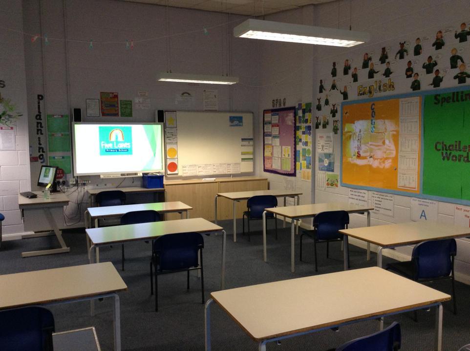 Inside Larch classroom