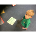 Reception - Independently applying the 'oa' grapheme in his writing.