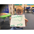 Reception - Independently applying the 'sh' grapheme in his writing.