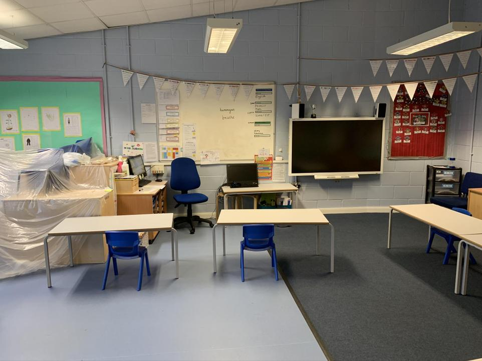 Inside Holly class - Don't worry it won't look like this in September
