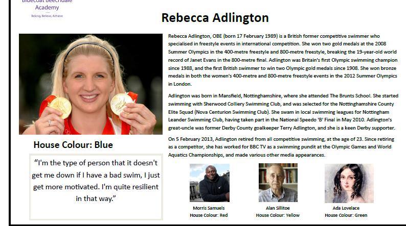 Rebecca Adlington Leaflet Example