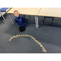 In Year 3 reinforcing Phonic knowledge using the letter arc.