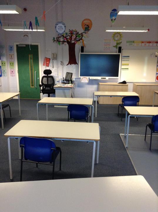 Inside Oak classroom