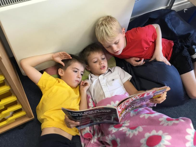 We love reading to relax