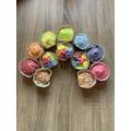 Immy's rainbow cakes
