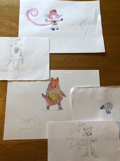 Tom's cartoon art